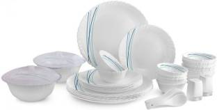 cello Pack of 37 Opalware Cool Lines 37 pcs Dinner Set