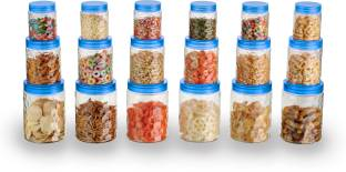 POLYSET Coral(18 Pcs)  - 300 ml, 650 ml, 1200 ml Plastic Utility Container
