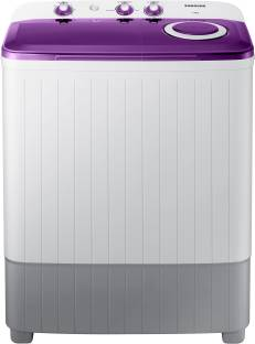 SAMSUNG 6 kg 5 star with Center Jet Technology Semi Automatic Top Load White, Grey, Purple