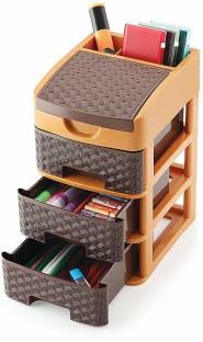 ShopZest 3 Compartments Plastic 3 Layer Storage Drawer