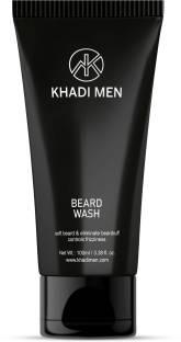 Khadi Men Beard Wash Clear skin and soft beard, eliminate beardruff controls frizziness, remove impurities