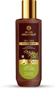 khadi ORGANIQUE Tea Tree  Removes tan, Anti Acne, Exfoliating Dead skin cells Face Wash