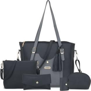 Dixon Women Black, Grey Hand-held Bag