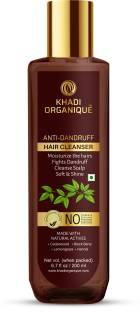 khadi ORGANIQUE Anti Dandruff Hair Shampoo / Cleanser NO SLS & PARABEN For Fight Dandruff & Cleansing Scalp