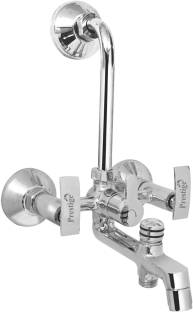 Prestige Passion 3 In 1 Mixer Wall Mixer With Bend 3 in 1 Wall Mixer With Bend and Wall Flange For Bat...