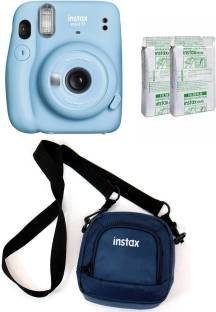 FUJIFILM Instax Mini 11 Blue with 20 Shots film and pouch Instant Camera