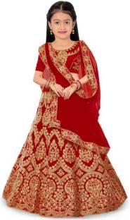 MR clothing Girls Lehenga Choli Ethnic Wear, Party Wear Embroidered Lehenga, Choli and Dupatta Set
