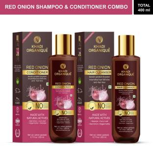 khadi ORGANIQUE Hair Care Kit (Red Onion Shampoo + Onion Hair Conditioner (SLS & PARABEN FREE)