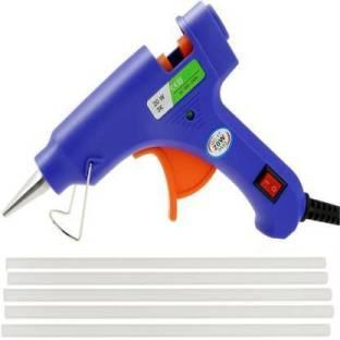 Jaydison Blue 20 Watt Standard Temprature Hot Melt Mini Glue gun With 5 Free Glue Sticks Standard Temp...