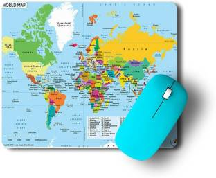 Go Green Tale Corporate Design Mouse Pad|World Map Print Mouse Pad|Rubber Base Matte Finsih Mouse Pad|Friendly For All Type Of Mouse/PC/Computer|Anti-Slippery Mousepad