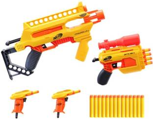 Nerf Alpha Strike Infantry Pack, 24-Piece Set Includes 4 Blasters and 20 Darts, For Kids, Teens, Adults Guns & Darts
