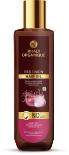 khadi ORGANIQUE Red onion Hair Oil with Keratin Protein booster, Nourishes hair follicles, Anti - Hair loss, Regrowth hair Hair Oil