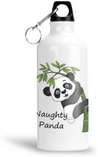 Furnish Fantasy Naughty Panda Aluminium Sipper Bottle for Kids - Birthday Gift (0051) 600 ml Sipper