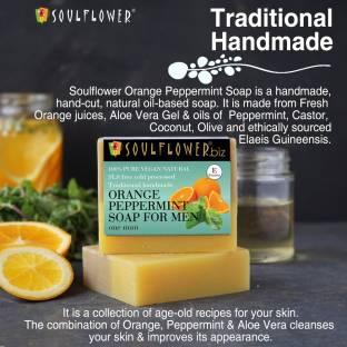 Soulflower Orange peppermint soap for men