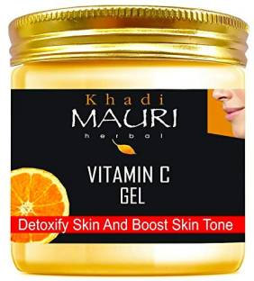 Khadi Mauri Herbal Vitamin C Gel - Anti Pimple & Pigmentation, Lightens Skin Complexion, Prevents Sun UV Rays Skin Damage, Soothes & Nourishes Skin - Enriched with Vitamin C & Aloe Vera - 200 g