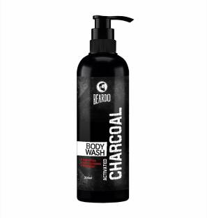 BEARDO Activated Charcoal Body Wash for Men, 200ml | With Activated Charcoal | Soap Free | Deep Cleansing | Skin Detox | Anti-Pollution | For Body & Face| Refreshing Fragrance