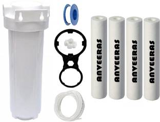 Anveeras Pre Filter 4 Spun Filter With Dual Spanner, Tap & Pipe, 2 Elbos Solid Filter Cartridge