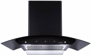Elica WDFL 906 HAC MS NERO Auto Clean Wall Mounted Chimney