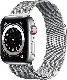 APPLE Watch Series 6 GPS + Cellular 40 mm Silver Stainless Steel Case with Silver Milanese Loop