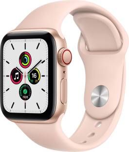 APPLE Watch SE GPS + Cellular 40 mm Gold Aluminium Case with Pink Sand Sport Band