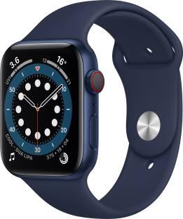 APPLE Watch Series 6 GPS + Cellular 44 mm Blue Aluminium Case with Deep Navy Sport Band