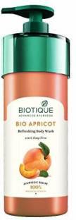 BIOTIQUE Bio Apricot Refreshing Body Wash (100% Soap Free)