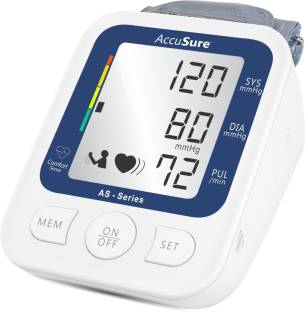 AccuSure AS Automatic + Advance Feature Blood Pressure Monitoring System Accusure AS Bp Monitor