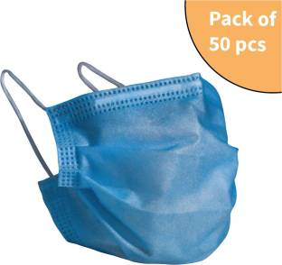 SGPFabrics 50pcs of 3 Ply Nanosecure Surgical Mask(75 GSM), with Nose Clip and Ear mount loops. SGPF_SB_25 Surgical Mask