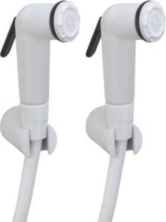 Premier ABS Health Faucet Milky (Complete) Set of 2 Health Faucet (Wall Mount Installation Type) Healt...