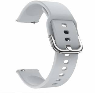 gettechgo Soft Silicone 20mm Strap Band with Metal Buckle Compatible with Samsung Galaxy Watch 3 41mm, Galaxy 42mm, Galaxy Active 40mm, Active 2 (40-44mm) / AmazeFit BIP/BIP Lite/AmazeFit GTS, Amazefit GTR (42mm) / VivoActive 3 / RealMe Classic, Fashion & Smartwatches with 20mm Lugs Smart Watch Strap