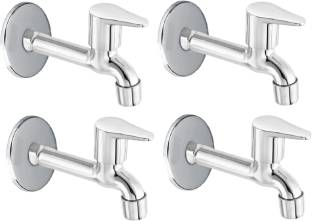 FLO Premium quality stainless steel Jazz Long body Tap - Pack of 4 Bib Tap Faucet
