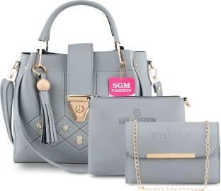 SGM Fashion Women Grey Shoulder Bag