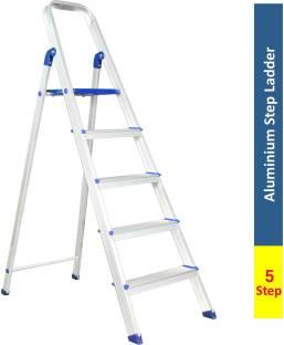 Flipkart SmartBuy 5 Step With Heavy Platform Aluminium Ladder