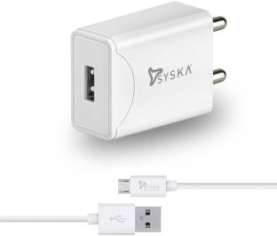 Syska WC2.1A-WH Fast Charger 2.1 A Mobile Charger with Detachable Cable