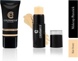 COLORESSENCE Aqua Makeup Base & Make-Up Panstick Concealer - Ivory/Fair Ivory - Set Of 2 - 35ml/10g
