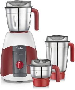 Prestige Stylo V2 750 Juicer Mixer Grinder (3 Jars, Red,White)