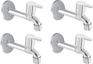 FLO Premium quality stainless steel Flora Long body Tap - Pack of 4 Bib Tap Faucet