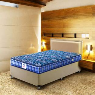 PEPS Springkoil Normal Top Blue 6 inch Single Bonnell Spring Mattress