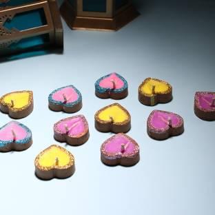 Anil Rakhi Terracotta (Pack of 12) Table Diya Set