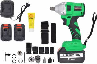 Shivonic SVC CORDLESS IMPACT WRENCH DRIVER with 2 Pieces OF 21 v Battery and 1 Charger of Size 1/2-Inc...