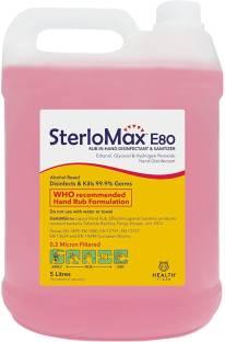SterloMax 80% Ethanol-based Hand Rub Sanitizer and Disinfectant, 5 L Hand Sanitizer Bottle