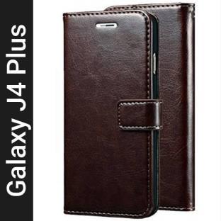 Krofty Flip Cover for Samsung Galaxy J4 Plus
