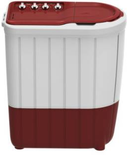 Whirlpool 7 kg 5 Star,Turbo Scrub Technology Semi Automatic Top Load Red, White