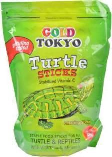 JJ FEEDS Gold Tokyo Turtle Food (Large 1kg) Sea Food, Shrimp 0.38 kg Dry Young, Senior, New Born Torto...