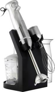 BMS Lifestyle 5 IN 1 MULTI SPEED BMSLIFESTYLESS_HANDBLENDERSILVER 240 Juicer Mixer Grinder (Silver)