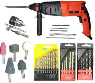 Inditools Heavy duty 26mm Rotary Hammer machine 900 W with 5pc hammer bit 5pc sotne 13mm drill chuck k...