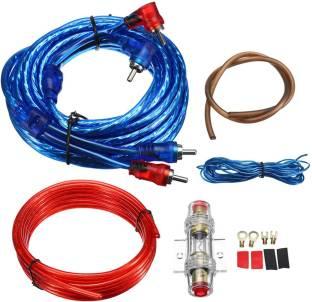 Bidas Car Amplifier Wiring Kit Audio Subwoofer AMP RCA Power Cable AGU Fuse Set Two Class B Car Amplifier