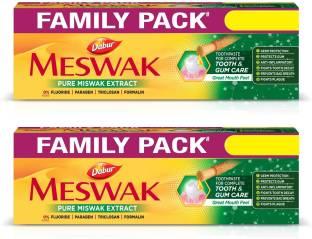 Dabur Meswak Indias No-1 Fluoride Free Toothpaste | Herbal paste made from pure extract of rare Miswak herb Toothpaste
