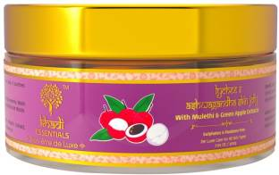 Khadi Essentials Ayurvedic Pure Aloe Vera Gel For Face with Vitamin C, Litchi & Ashwagandha For Anti Aging & Wrinkles