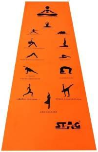 STAG Yoga Mantra ASANA Orange 6 mm Yoga Mat